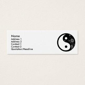Cartão de visita floral preto de Yin Yang