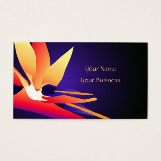 Cartão de visita floral tropical do