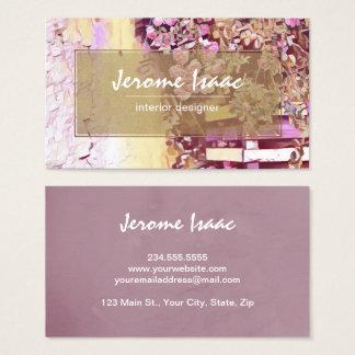 Cartão de visita floral violeta moderno da cartão de visitas