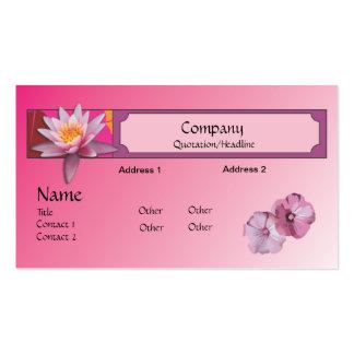 Cartão de visita--Flores cor-de-rosa