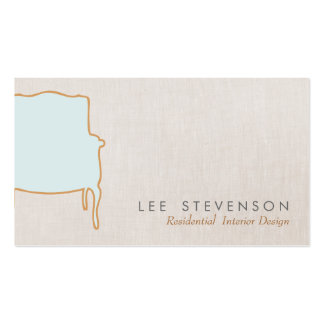 Cartão de visita francês da cadeira do design de