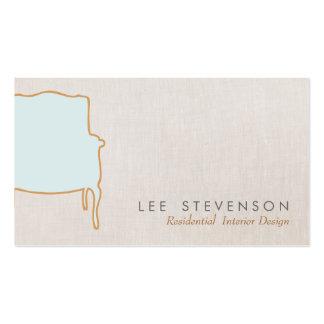 Cartão de visita francês da cadeira do design de i