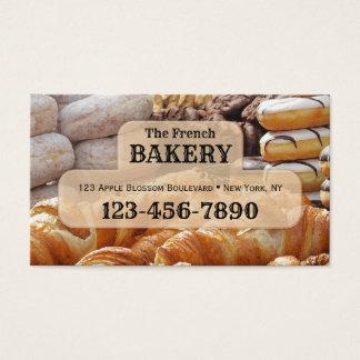 Cartão de visita francês da padaria