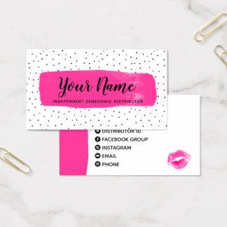 Cartão de visita fúcsia Flirty de LipSense