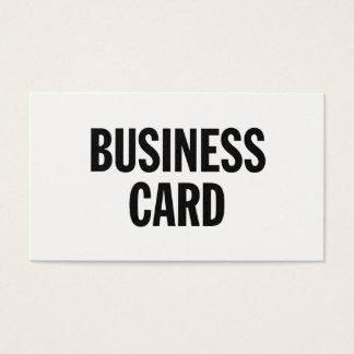 Cartão de visita genérico