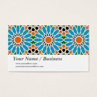 Cartão de visita geométrico islâmico com o