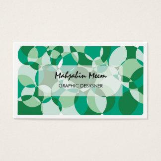 Cartão de visita geométrico verde cinzento moderno