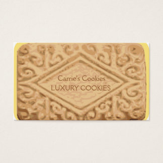 Cartão de visita gigante do biscoito do creme do