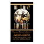 Cartão de visita gigante do robô