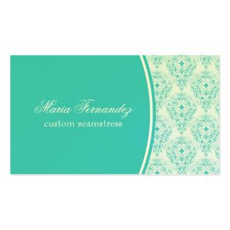 Cartão de visita Glam brilhante, turquesa