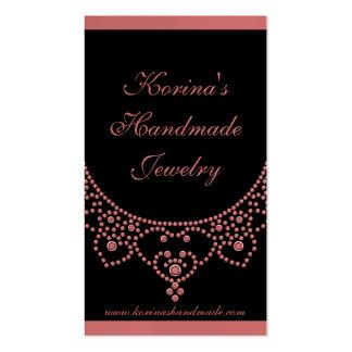 Cartão de visita Glam Jewelled, cor-de-rosa