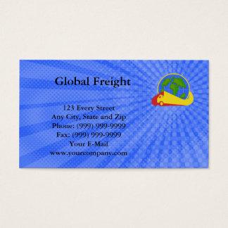 Cartão de visita global do frete
