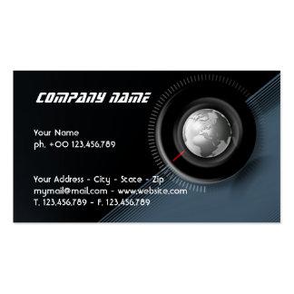 Cartão de visita global do tempo