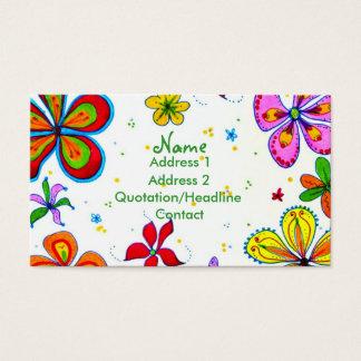 Cartão de visita grande do costume da arte das