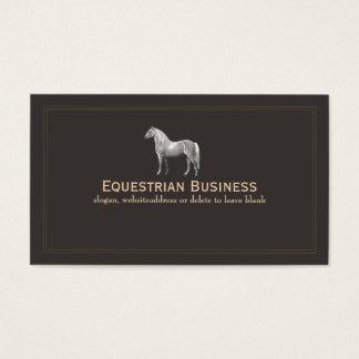 Cartão de visita gravura a água-forte do cavalo do