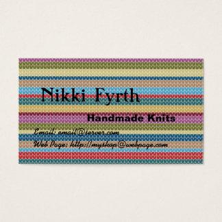 Cartão de visita Handmade das malhas
