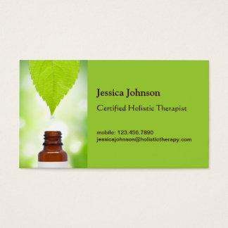 Cartão de visita holístico da terapia da folha