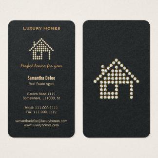 Cartão de visita Home dos bens imobiliários do