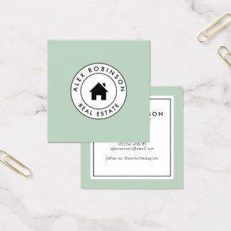 Cartão de visita home moderno retro dos bens