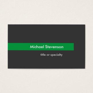 Cartão de visita horizontal da listra verde