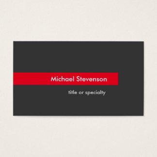Cartão de visita horizontal da listra vermelha