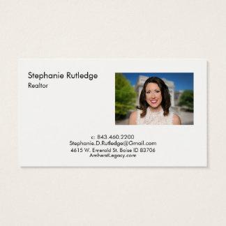 Cartão de visita horizontal de Amherst Madison com