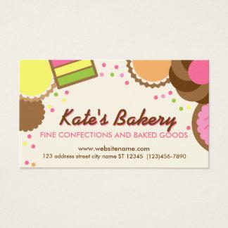 Cartão de visita ilustrado da padaria