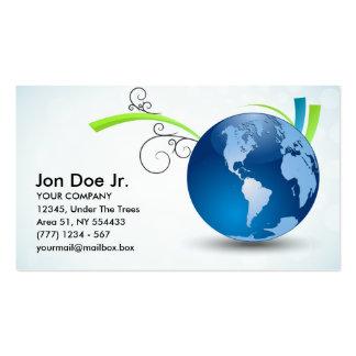 Cartão de visita internacional do transporte