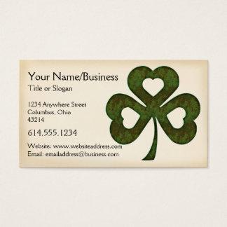 Cartão de visita irlandês:: Três trevo Hearted D1