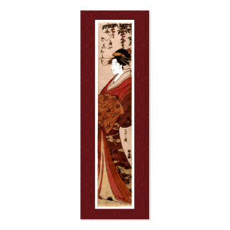 Cartão de visita japonês da pintura do vintage