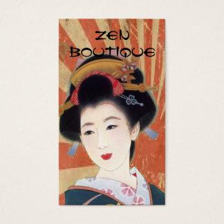 cartão de visita japonês do boutique do zen da