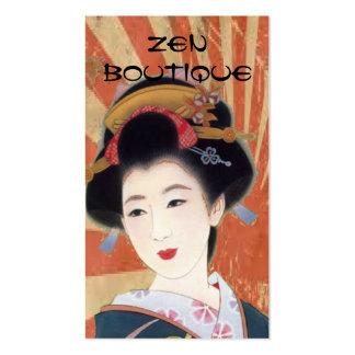 cartão de visita japonês do boutique do zen da gue