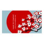 Cartão de visita japonês moderno da flor de cereje