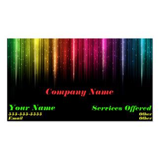 Cartão de visita legal da luz do arco-íris