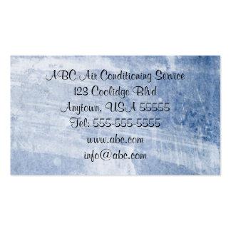 Cartão de visita legal do azul de gelo