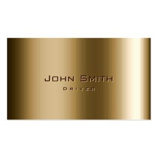 Cartão de visita legal do motorista do bronze do m
