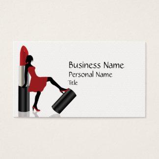 Cartão de visita legal do salão de beleza da