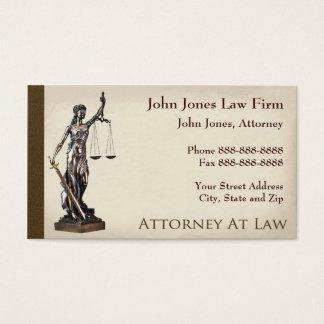 Cartão de visita legal do símbolo do advogado do