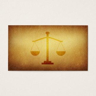 Cartão de visita legal forrado da indústria do