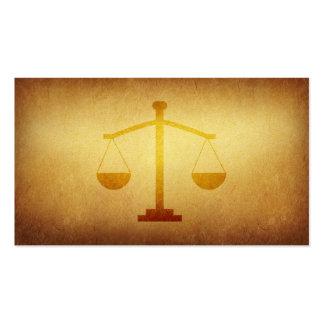 Cartão de visita legal forrado da indústria do arq