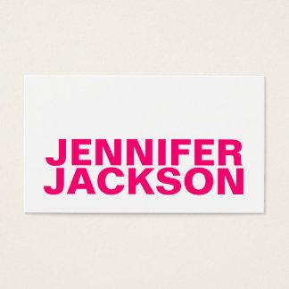 Cartão de visita legal minimalista cor-de-rosa