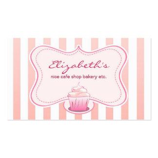 cartão de visita leitoso do cupcake