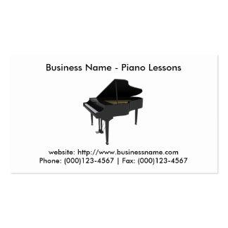 Cartão de visita: Lições de piano Cartão De Visita