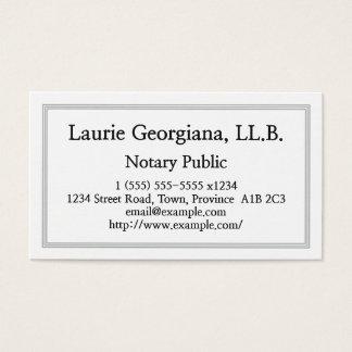 Cartão de visita limpo & customizável do notário
