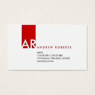 Cartão de visita limpo vermelho branco do