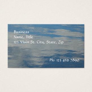Cartão de visita líquido do céu