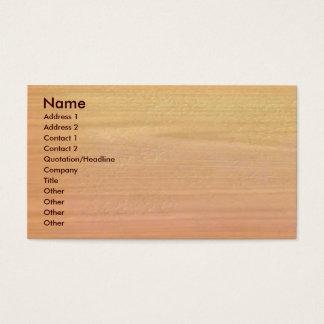 Cartão de visita liso da madeira do bordo
