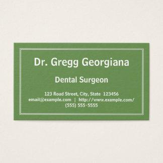 Cartão de visita liso do cirurgião dental