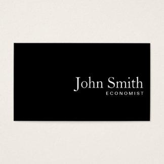 Cartão de visita liso do economista do código do