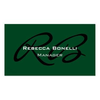 Cartão de visita liso na moda criativo verde do mo